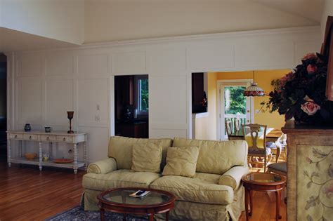 Shaker Living Room by Custom Shaker Style Wainscoting Panels