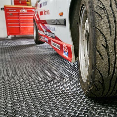 Garage Flooring PVC Vinyl Floor Tiles Checker Diamond