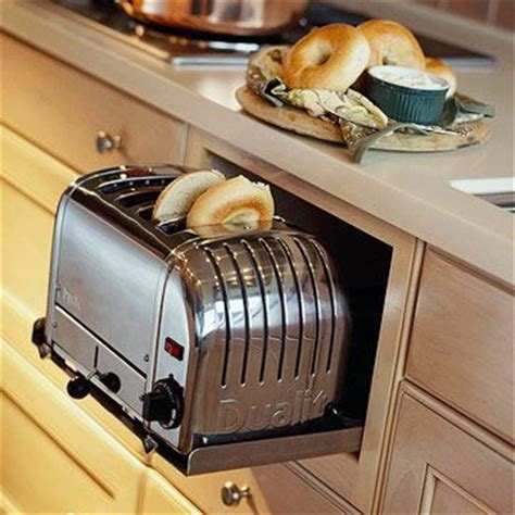 kitchens toaster on counter pullout kitchen storage ideas toaster coffee maker and