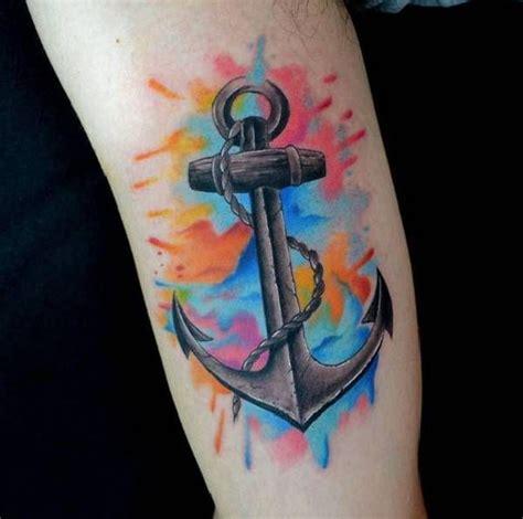 watercolor tattoos preise die besten 25 aquarell anker ideen auf