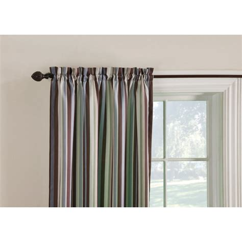 brown thermal curtains shop style selections colin 84 in l striped brown multi