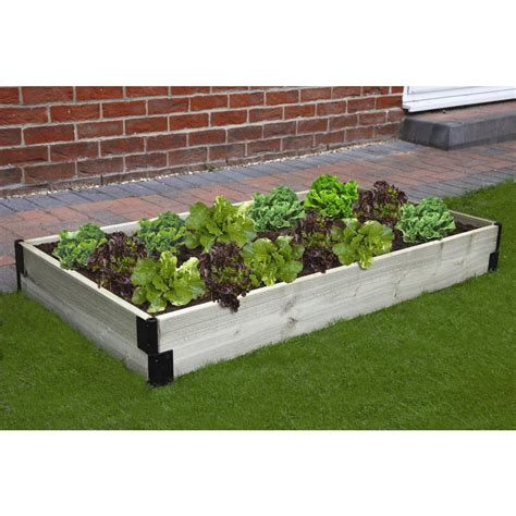 raised bed garden kits home depot terrasse en bois bosmere raised garden bed connection kit n426 the home depot