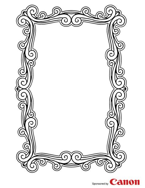 free coloring pages of a picture frame
