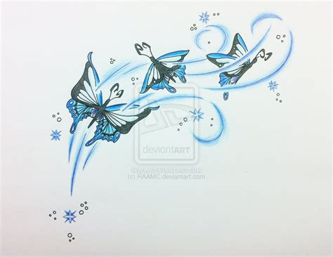 star butterfly tattoo design of butterfly tattoos and designs page 557