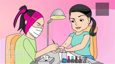 anjelah johnson nail salon animated by homeinvasion tv bahahahaha anjelah johnson quot nail salon quot animated