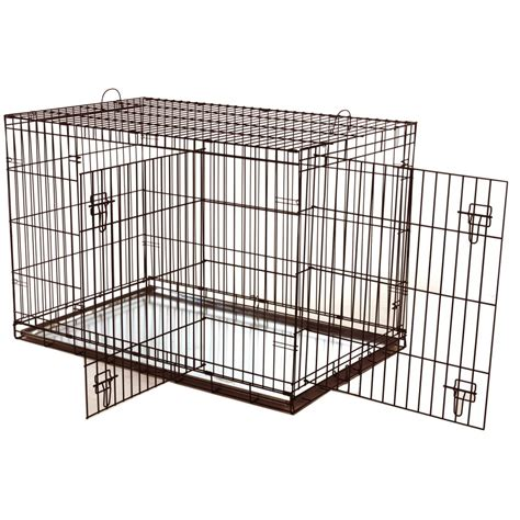 puppy cage buy hagen dogit 2 door black wire cage large