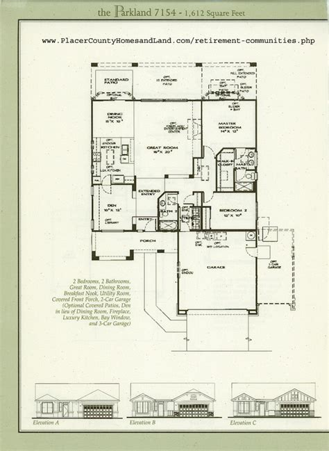 Sun City Roseville Floor Plans | sun city roseville floorplans