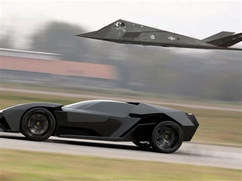 Lamborghini Fighter Jet Lamborghini Akonian Concept With Nighthawk Jet Fighter Hd