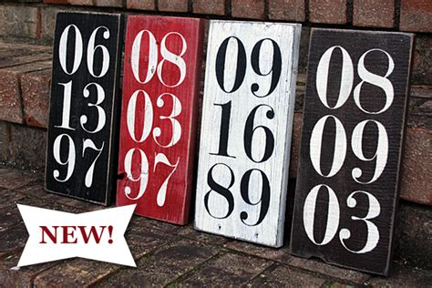 new year dates and signs new special date wood sign signs by andrea