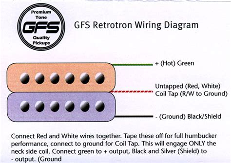 wiring a gfs humbucker need detailed