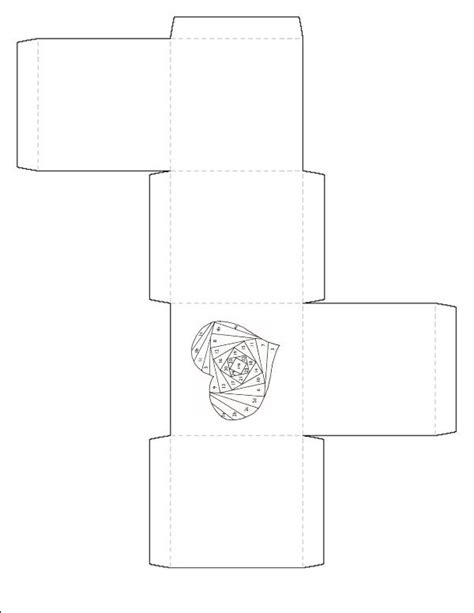 templates for folded boxes folded paper box template pictures to pin on pinterest