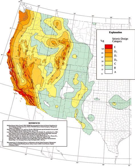 earthquake zones map earthquake hazard maps fema gov