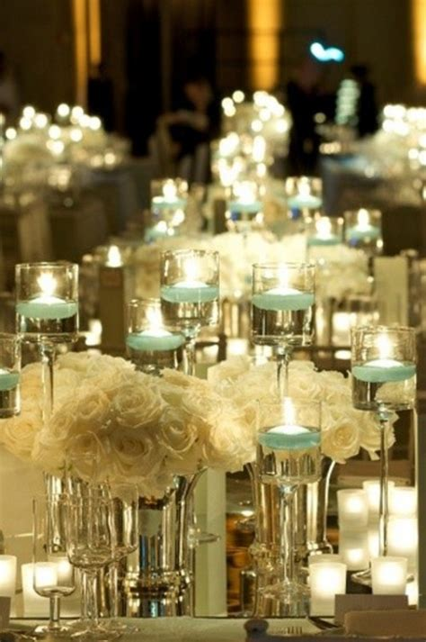 wedding reception table centerpieces in inspiring winter wedding centerpiece