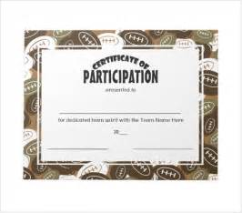 football certificates templates 7 sle participation certificate psd pdf