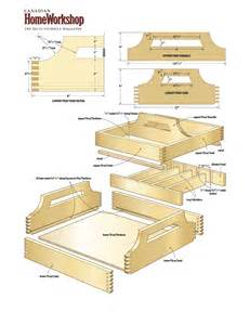 woodwork wood tray plans pdf plans