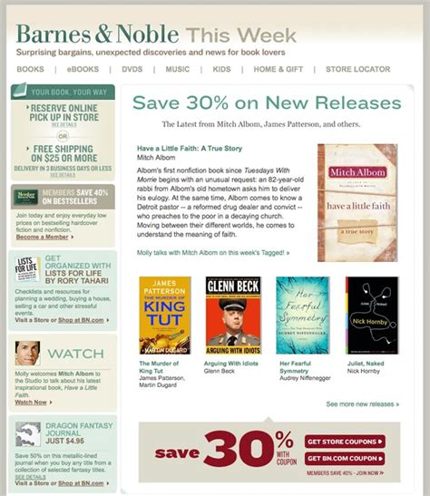 Email Barnes And Noble a guide to creating email newsletters webdesigner depot
