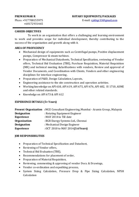 Rotating Equipment Engineer Cover Letter by Fixed Equipment Engineer Sle Resume Nardellidesign