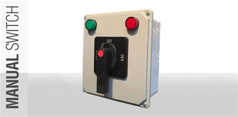 manual changeover switch for generators