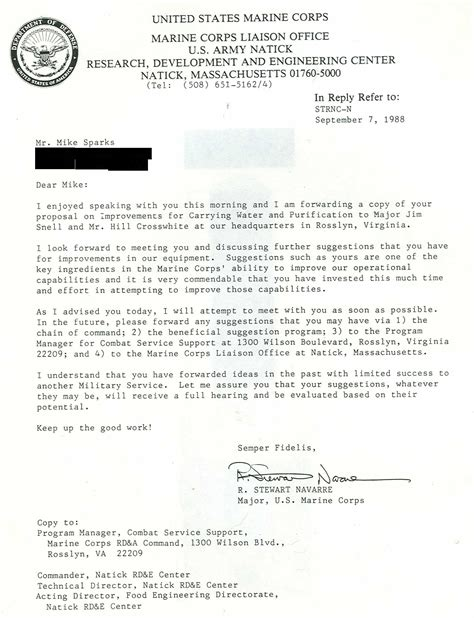 Usmc Endorsement Letter Format Drink On The Move