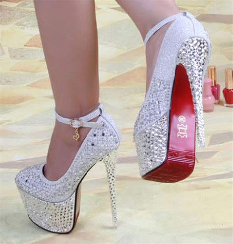 bottom wedding shoes new 2014 pumps rhinestone 16cm wedding shoes