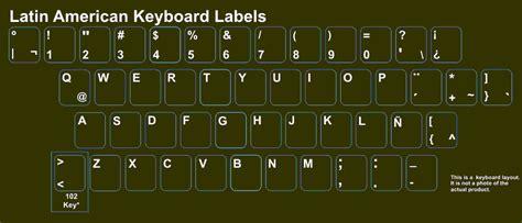 keyboard layout latin american uruguayan laptop keyboard stickers