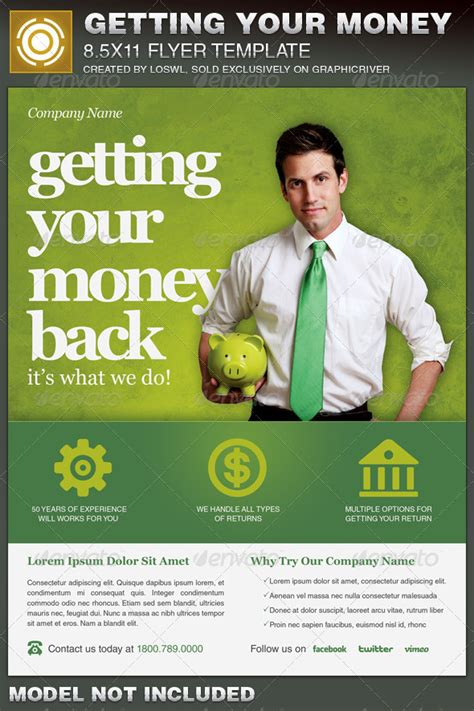 Getting Your Money Back Tax Flyer Template By Loswl Graphicriver Money Flyer Template