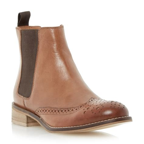 dune chelsea boots dune quentin leather chelsea boots in brown lyst