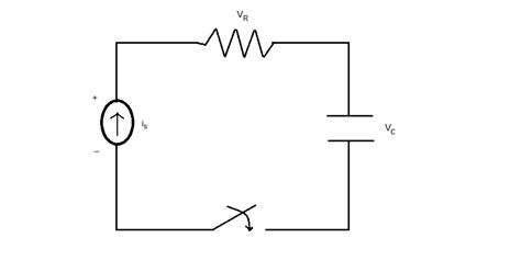 voltage across capacitor t 0 the rc circuit below starts with an initial voltage chegg