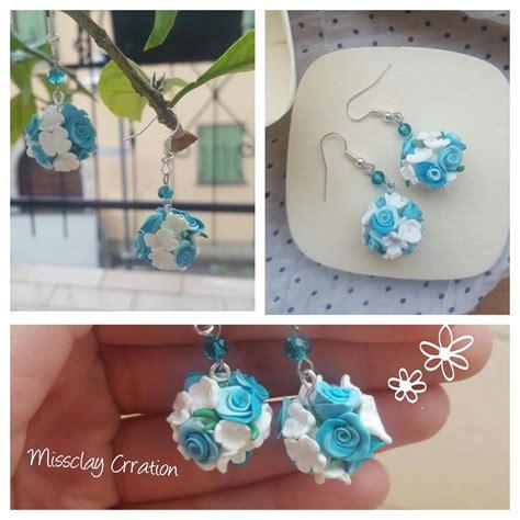 fiori in fimo orecchini fiori in fimo gioielli orecchini di