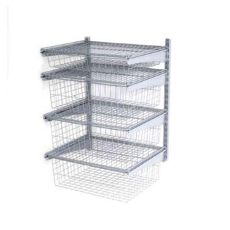 closetmaid shelftrack drawers shop closetmaid satin chrome shelftrack drawer kit at