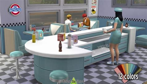Sims 2 Rugs American Restaurant At Around The Sims 4 187 Sims 4 Updates