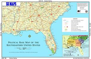Map Of The South Of Usa by Se Maps Regional Maps Home