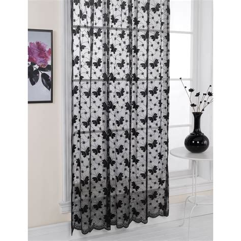 butterfly lace curtains jardin butterfly patterned lace living room panel window