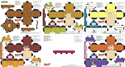 Scooby Doo Papercraft - joshua s bootleg cubees scooby doo cubees series 1