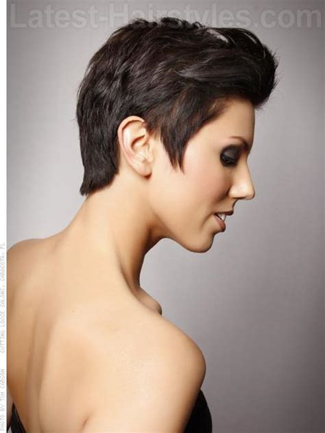 short side part hair styles 360 view girls haircuts side part side bangs modern long and short