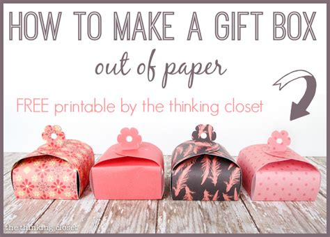 How To Make A Box Out Of Wrapping Paper - paper gift box tutorial printable 100 blue nile