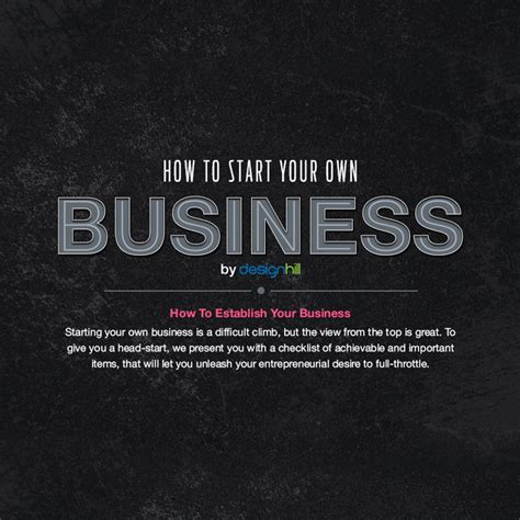 how to start your own business designhill