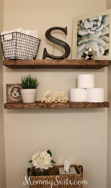 diy bathroom decor ideas best 25 floating shelves bathroom ideas on pinterest