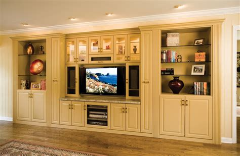 Family Room Cabinets by Custom Painted Media Wall Unit By Valet Custom Cabinets
