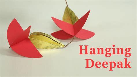 How To Make A Paper Garland - how to make door hangings for diwali deepak design paper