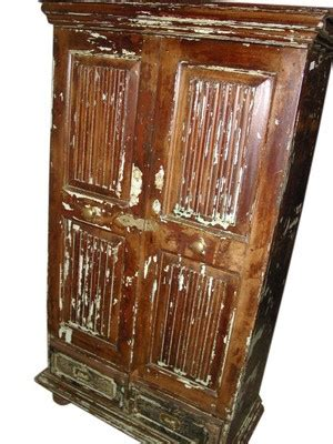 Armoire Patinée by Antique India Furniture Teak Wood Rustic Patina Wardrobe