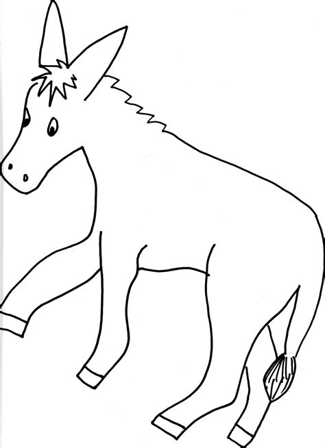 printable donkey templates free the tail on the donkey coloring pages