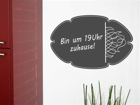 An Die Wand Schreiben by Wandtattoo Tafelfolie Verziertes Oval Bei Homesticker De