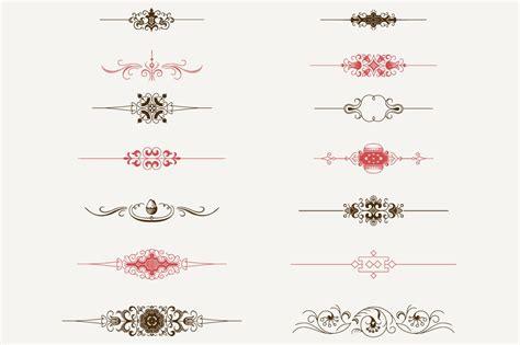 decorative text dividers  illustrations creative market