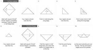Rose napkin fold valentines day napkin folds chinet 174