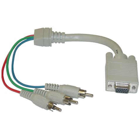 Vga To Rca 1ft vga to component cable hd15 3 rca