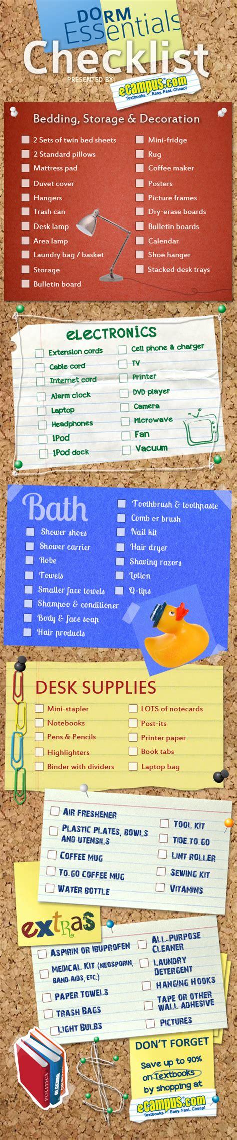 room essentials list list of 10 room essentials checklist