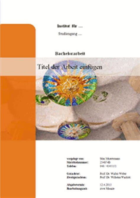 Seminar Design Vorlagen Gestaltung Und Inhalt Des Deckblattes Einer Bachelorarbeit