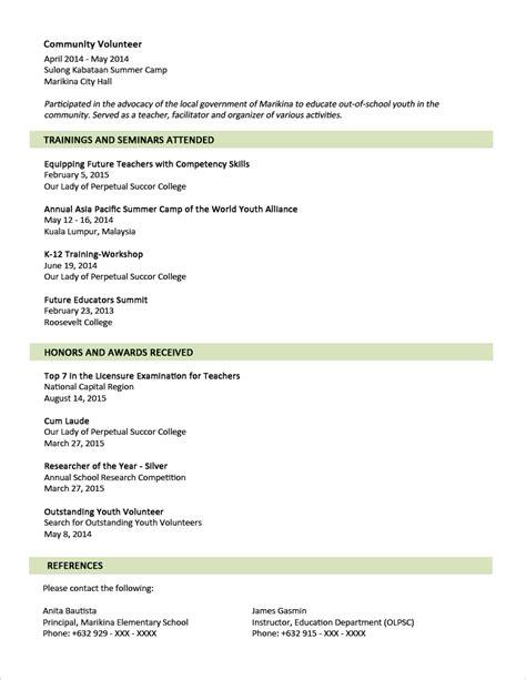 Sample Resume Format Seaman | Example Good Resume Template