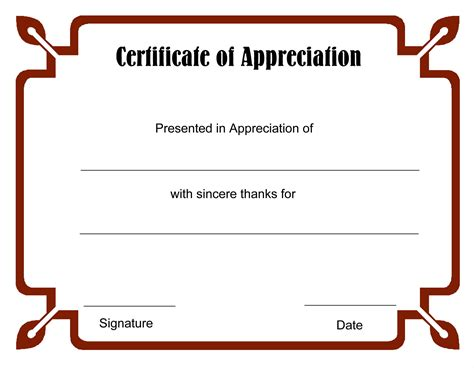 free editable certificate of appreciation template images